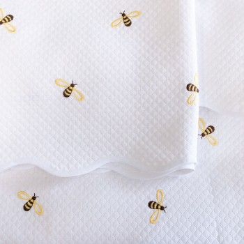 Anichini Bumblebee Embroidered Piqué Baby Bedding