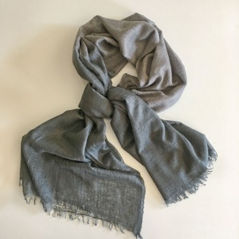 Anichini Felted Ombre Handwoven Cashmere Stole In Pigeon