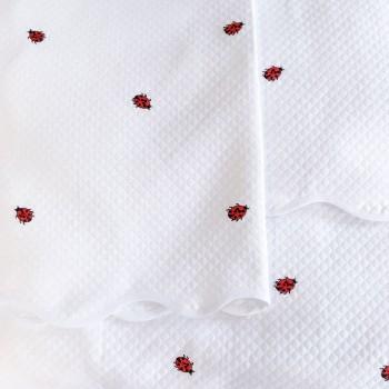 Anichini Ladybug Ladybug Piqué Embroidered Baby Bedding