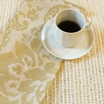 Anichini Lido Linen Jacquard Table Linens