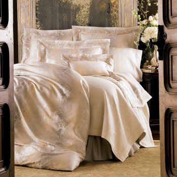 Anichini Marte Italian Sateen Sheeting in Neutral