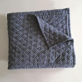 Anichini Pho Collection Handmade Indigo Batik Linen Quilts