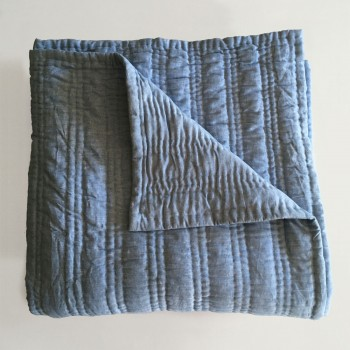 Anichini Pho Collection Handmade Linen Oxford Quilt