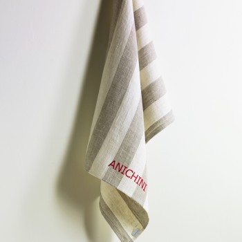 Anichini Striped Heavy Linen Kitchen Towels