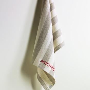 Anichini Striped Heavy Linen Kitchen Towels