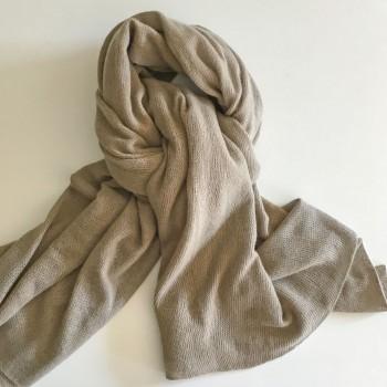 Anichini Yangir Handwoven Cashmere Stole In Sesame