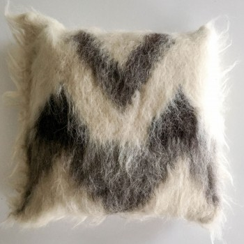 Anichini Zig Zag Handmade Brushed Wool Pillows