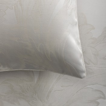 Anichini Fernanda Italian Sateen Jacquard Sheeting in Platinum