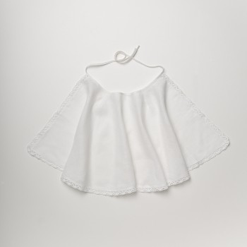 Anichini Bambini Handmade Linen Christening Cape