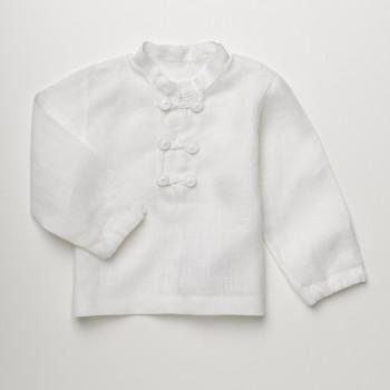Anichini Bambini Handmade Linen Baby Shirt