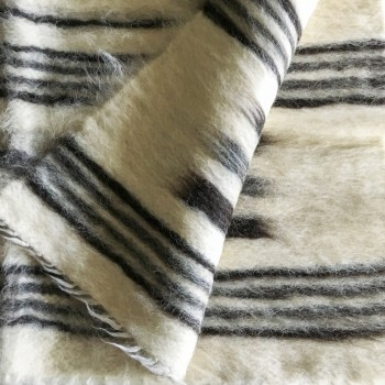 Anichini Diamond & Dash Brushed Natural Wool Rugs