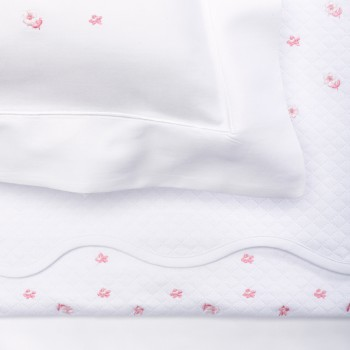 Anichini Gioia Custom Bedding With Embroidered Flowers