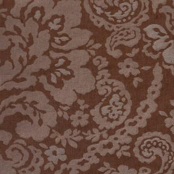 Anichini Lido Linen Jacquard Fabric By The Yard In Charcoal Cocoa