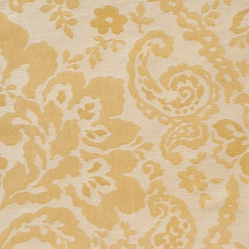 Anichini Lido Linen Jacquard Fabric By The Yard In Pale Gold Ivory
