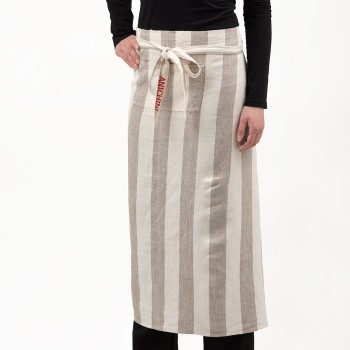 Anichini Striped Heavy Linen Long Aprons