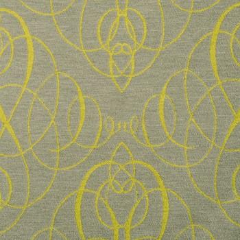 Anichini Mozart Chenille Fabric By The Yard In Citrine Neutral