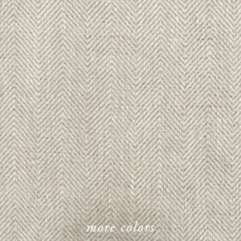 NOBEL HERRINGBONE LINEN SHOWER CURTAIN