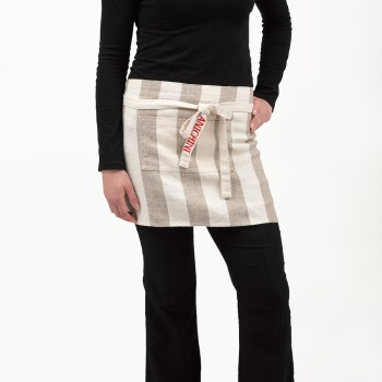 Anichini Striped Heavy Linen Short Aprons