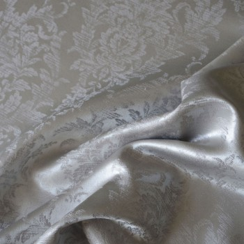 Anichini Korona Silk Sateen Duvet Covers in Ash