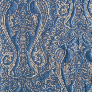 TIBET PAISLEY MATELASSE FABRIC BY-THE-YARD