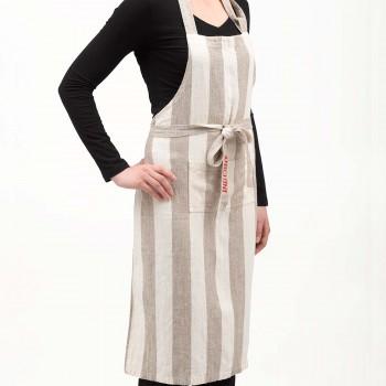Anichini Striped Heavy Linen Bib Aprons