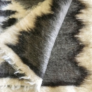 Anichini Zig Zag Brushed Natural Wool Rugs