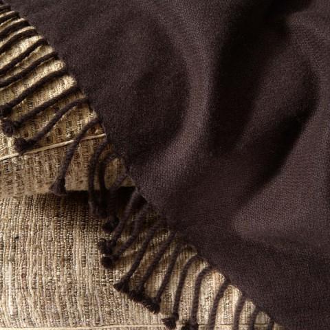 Anichini Amdo Hand Loomed 4-Ply Crepe Weave Blankets