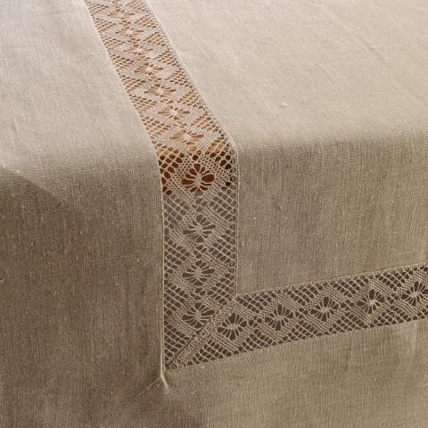Anichini Lace Insertion Linen Tablecloths ...