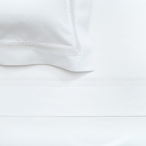 Anichini Avila Percale Sheet Sets in White