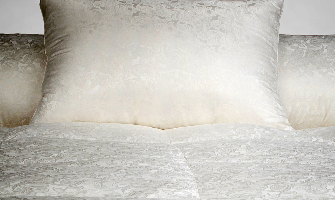 Anichini Via Sete Luxury Silk European Goose Down Pillows and Duvets