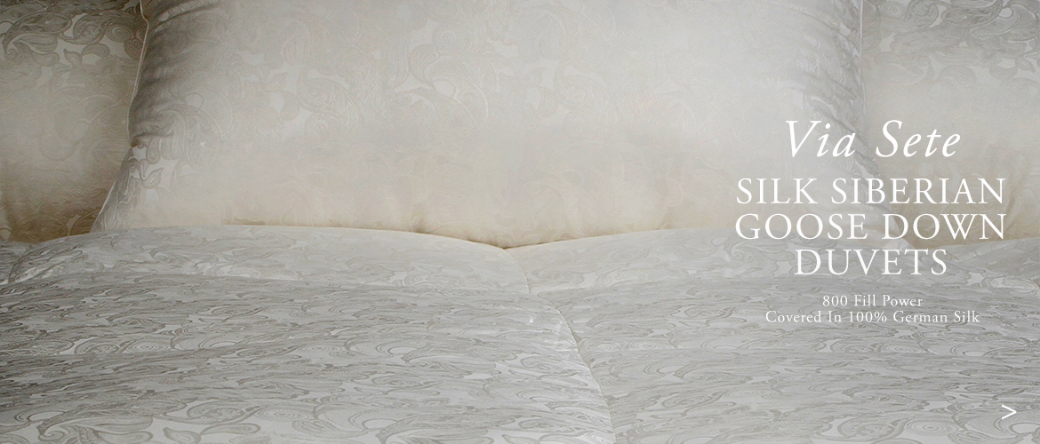 Anichini Via Sete Silk Luxury Siberian Goose Down Duvets