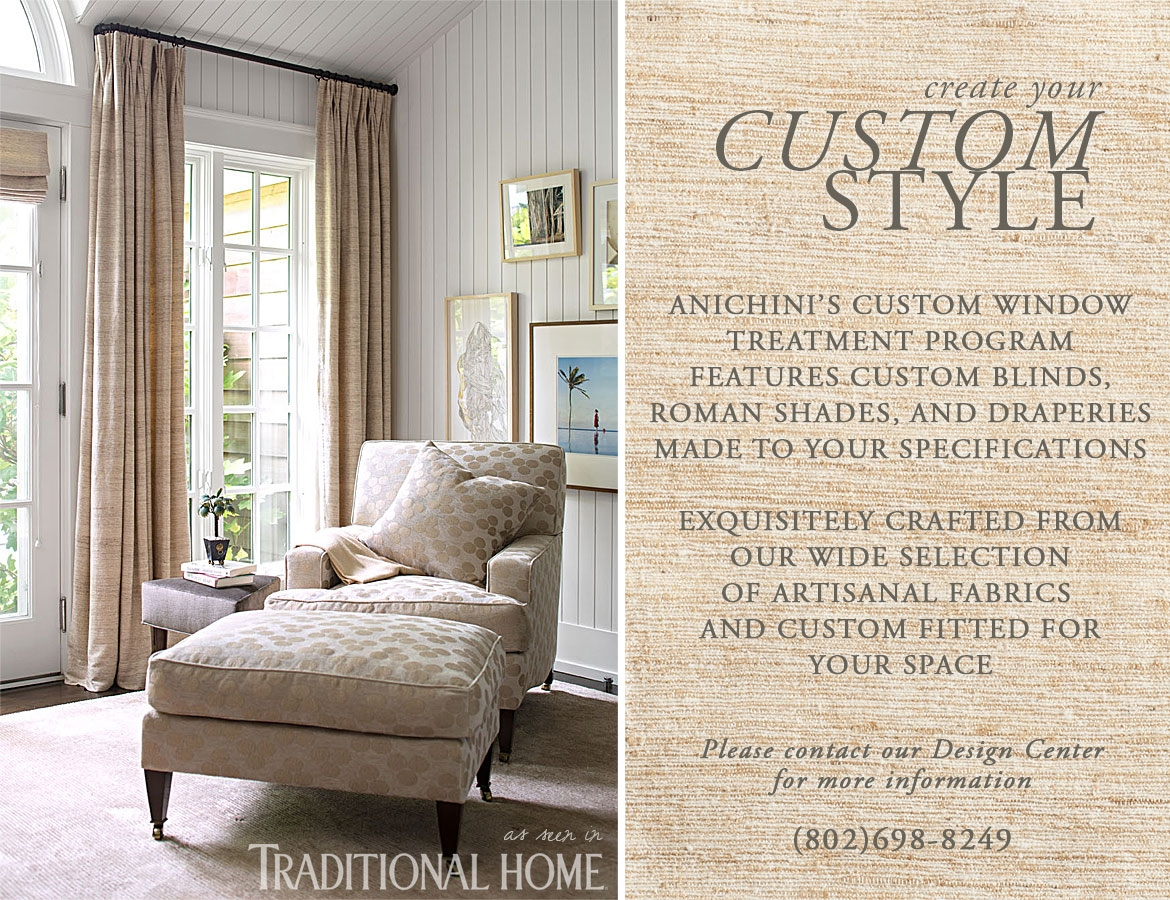 Anichini Custom Window Treatment Program
