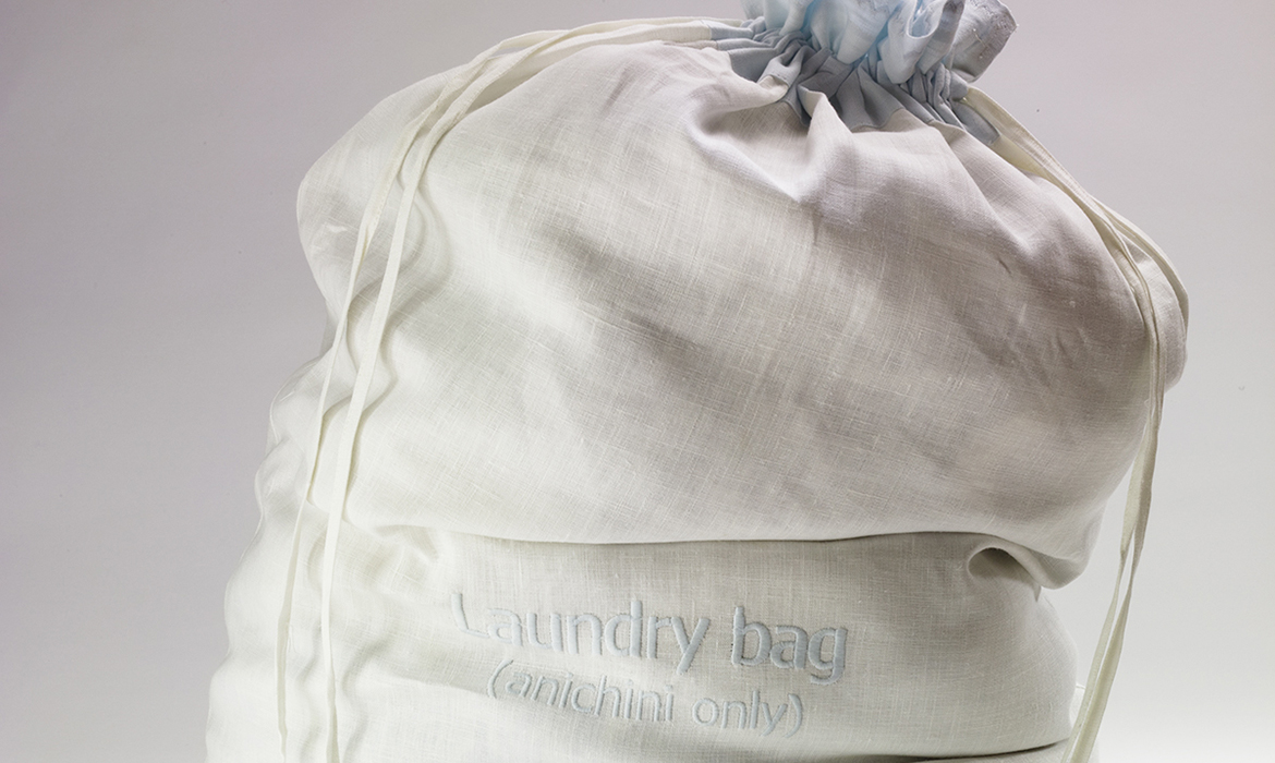 Anichini Signature Linen Laundry Bags
