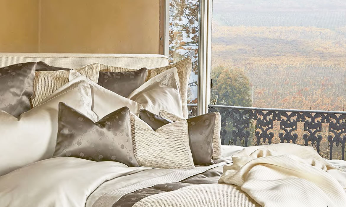 Anichini Chieri Collection - Luxury Italian Sateen And Jacquard Tibetan-Inspired Sheets