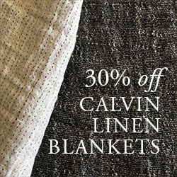30% OFF All Calvin Linen Blankets