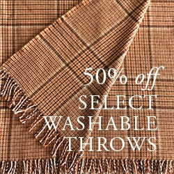 50% OFF Washable Throws