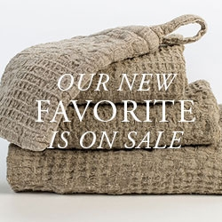 Adras Patchwork Linen Waffle Weave Towels Are On Sale