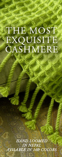ANICHINI Cashmere: The Most Exquisite Cashmere Blankets and Throws Hand Loomed In Nepal In 160 Colors