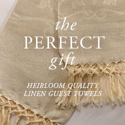 ANICHINI Linen Guest Towels, The Heirlooms of Tomorrow. Our linen guest towels make the perfect gift.
