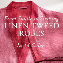 Linen Tweed Robes In 14 Colors