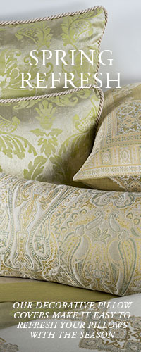 Decorative Pillow Covers make it easy to refresh your pillows with the season.
